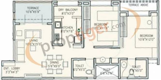 Kalaapi Sucasa Phase 2 (2BHK+2T (905 sq ft) Apartment 905 sq ft)