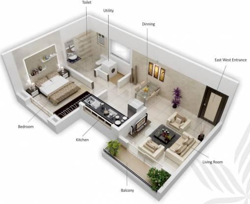Siddhivinayak Vision Woods 1 (1BHK+1T (501 sq ft) Apartment 501 sq ft)