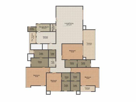 ABIL Gods Grace (4BHK+4T (3,650 sq ft) Apartment 3650 sq ft)