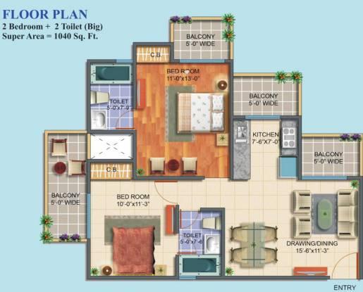 Maxblis White House II (2BHK+2T (1,040 sq ft) Apartment 1040 sq ft)