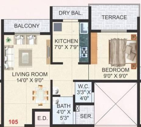 Aaron Moreshwar Complex (1BHK+1T (646 sq ft) Apartment 646 sq ft)