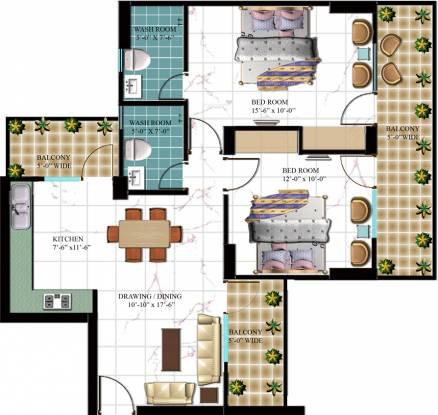 Arocon Golf Ville (2BHK+2T (1,255 sq ft) Apartment 1255 sq ft)