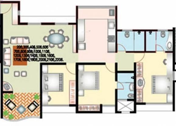 Nanded Shubh Kalyan (3BHK+3T (1,159 sq ft) Apartment 1159 sq ft)