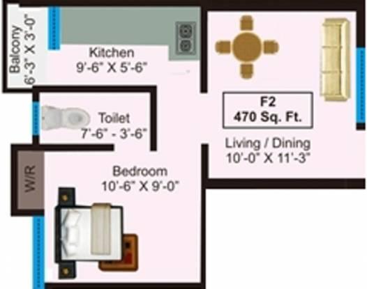 AP Amirthalaya (1BHK+1T (470 sq ft) Apartment 470 sq ft)