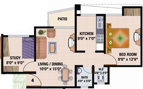 Sadguru Complex (1BHK+1T (775 sq ft)   Study Room Apartment 775 sq ft)