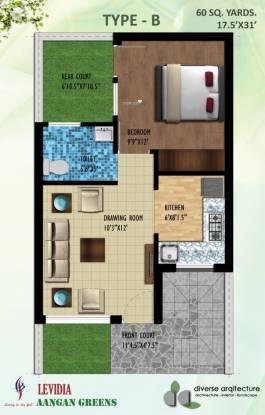 Levidia Aangan Greens (1BHK+1T (493 sq ft) Villa 493 sq ft)