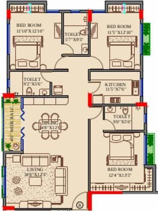 Orbit Avinash (3BHK+3T (2,000 sq ft) Apartment 2000 sq ft)
