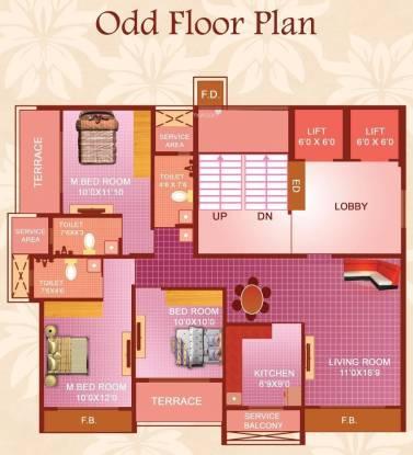 Maatoshree Sai Moreshwar Luxuria (3BHK+3T (1,655 sq ft) Apartment 1655 sq ft)
