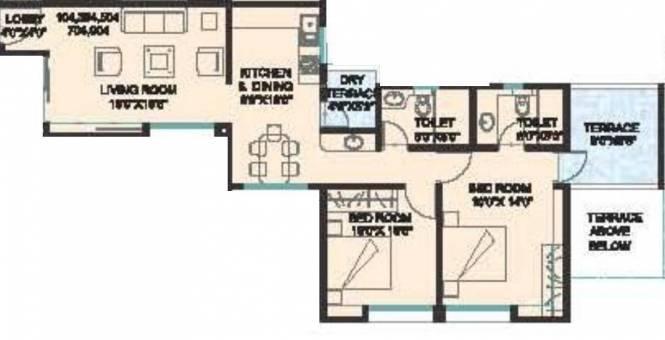 Nirmiti Albacitta (2BHK+2T (1,290 sq ft) Apartment 1290 sq ft)