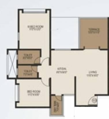 Shree Balaji Generosia (2BHK+2T (1,068 sq ft) Apartment 1068 sq ft)
