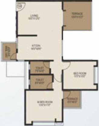 Shree Balaji Generosia (2BHK+2T (1,096 sq ft) Apartment 1096 sq ft)