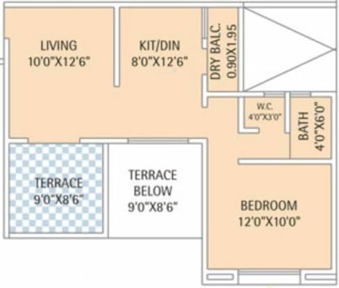 Karan Reelicon Vishwa (1BHK+1T (686 sq ft) Apartment 686 sq ft)