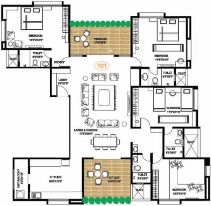 Pandit Jagdish (4BHK+4T (2,841 sq ft) Apartment 2841 sq ft)