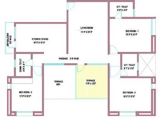 Pandit Swasti (3BHK+3T (1,797 sq ft) Apartment 1797 sq ft)