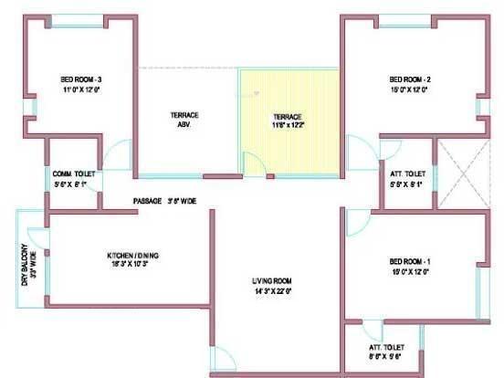 Pandit Swasti (3BHK+3T (1,723 sq ft) Apartment 1723 sq ft)