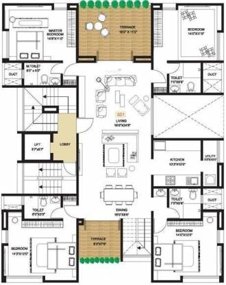 Pandit Almira (4BHK+4T (2,994 sq ft) Apartment 2994 sq ft)