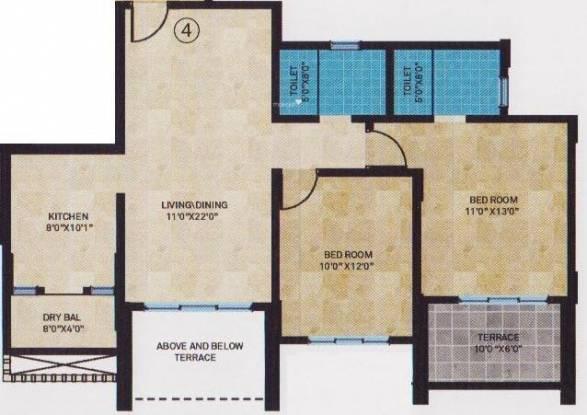 Sheth Tiara (2BHK+2T (1,050 sq ft) Apartment 1050 sq ft)