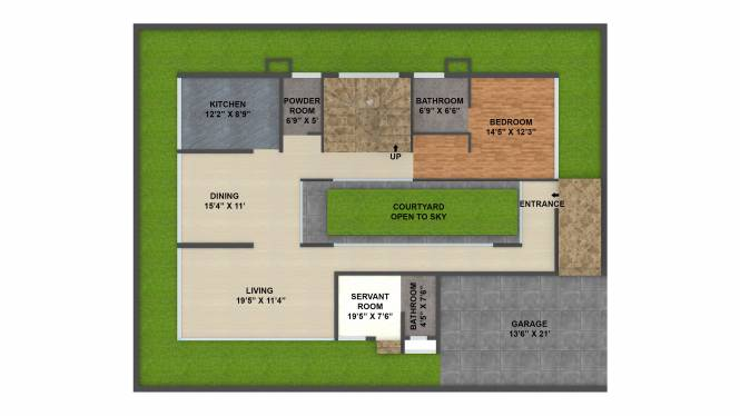 Sark Two (3BHK+3T (2,250 sq ft) + Servant Room Villa 2250 sq ft)
