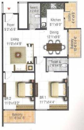 RRR Elite Belathur (2BHK+2T (1,153 sq ft) Apartment 1153 sq ft)