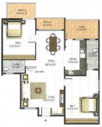 RRR Elite Belathur (2BHK+2T (1,224 sq ft) Apartment 1224 sq ft)