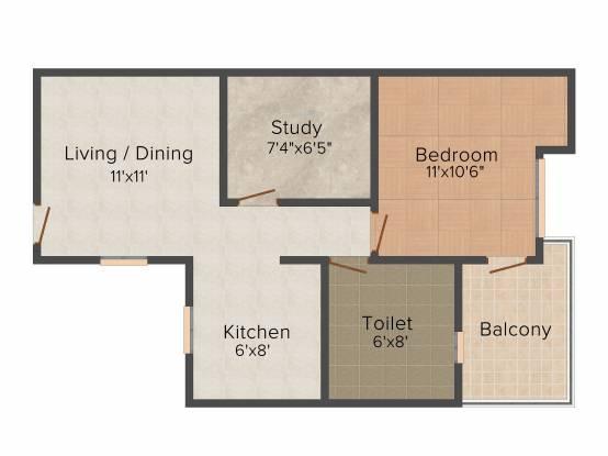 Trehan Royal Court (1BHK+1T (650 sq ft)   Study Room Apartment 650 sq ft)