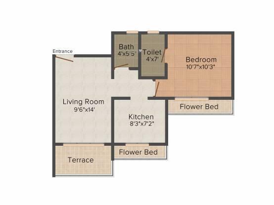 Neelkanth Exotica (1BHK+1T (670 sq ft) Apartment 670 sq ft)