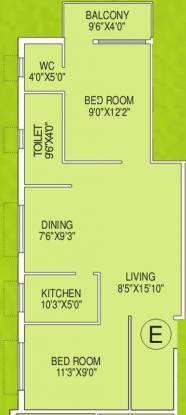 Biswanath Mrinalini Residency (2BHK+2T (970 sq ft) Apartment 970 sq ft)