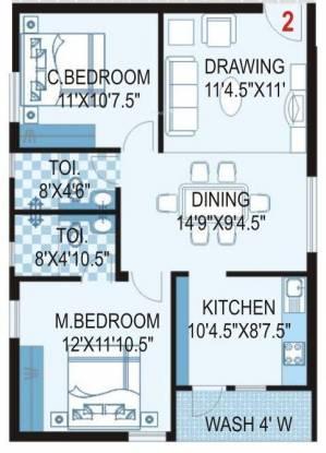 Reliance MCRArcade (2BHK+2T (1,038 sq ft) Apartment 1038 sq ft)