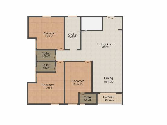Signum Aristo (3BHK+3T (1,682 sq ft) Apartment 1682 sq ft)