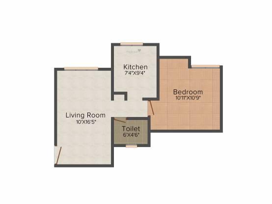 Radhey Residency 2 (1BHK+1T (680 sq ft) Apartment 680 sq ft)