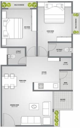 PSY Pramukh Lotus (2BHK+2T (1,242 sq ft) Apartment 1242 sq ft)