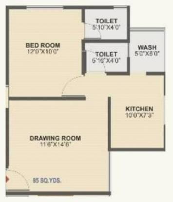 Aman Aman City (1BHK+2T (765 sq ft) Apartment 765 sq ft)