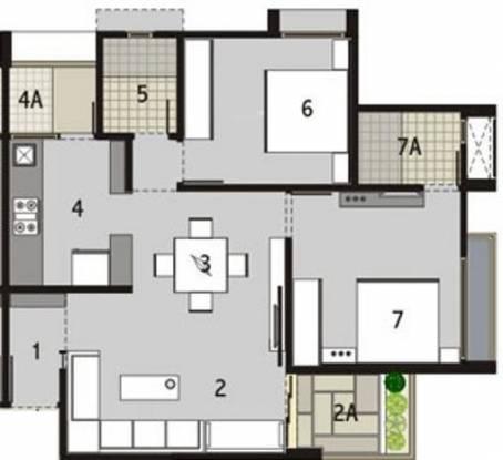 Binori Sonnet (2BHK+2T (1,260 sq ft) Apartment 1260 sq ft)