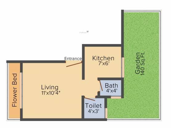 Sambhav Bal Ganesh (1BHK+1T (495 sq ft) Apartment 495 sq ft)