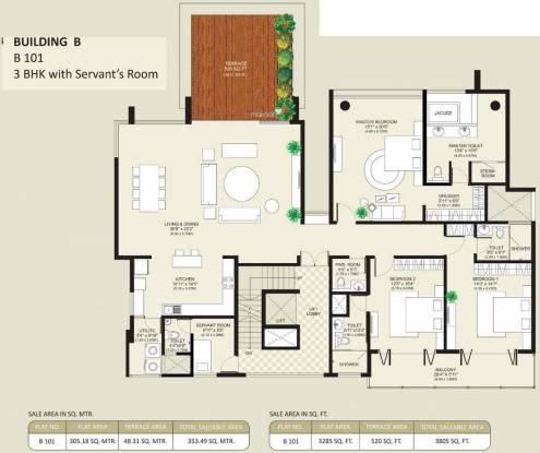 Marvel Bellaza (3BHK+3T (3,805 sq ft) Apartment 3805 sq ft)