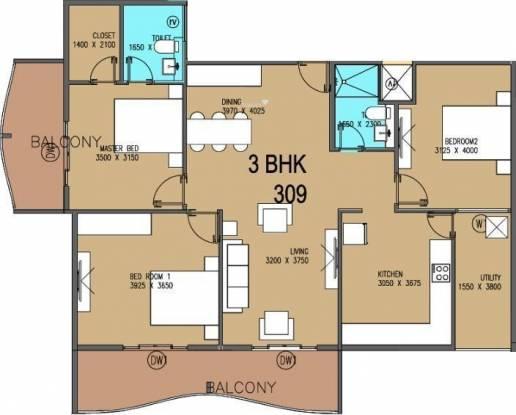V5 Alpha Emerald (2BHK+2T (1,286 sq ft) Apartment 1286 sq ft)