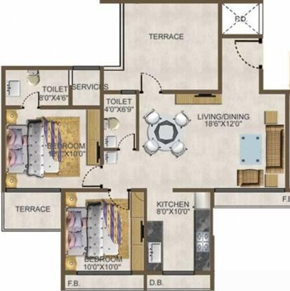 Agrawal Blue Kites (2BHK+2T (1,142 sq ft) Apartment 1142 sq ft)