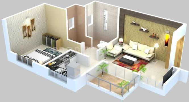 Vijayalaxmi Laxmisatyam Residency (1BHK+1T (640 sq ft) Apartment 640 sq ft)