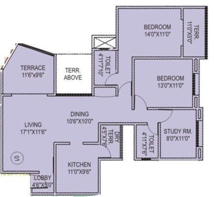 Rachana Lifestyle Gold Coast Rachana Lifestyle Gold Coast (2BHK+2T + Study Room)