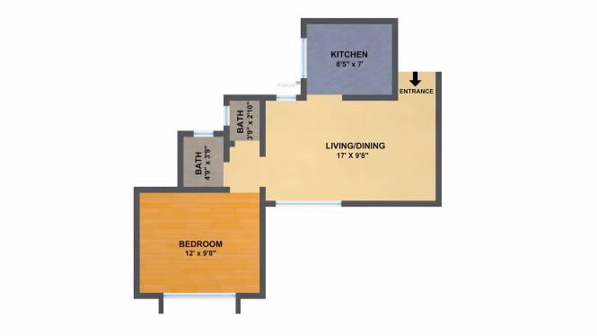 Elite Green Acres (1BHK+1T (576 sq ft) Apartment 576 sq ft)