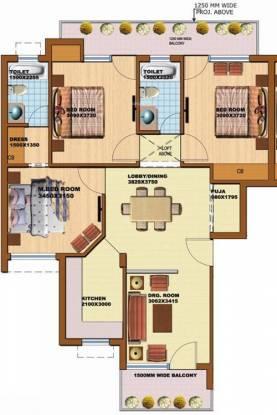 SRS Pearl Floors (3BHK+2T (1,437 sq ft)   Pooja Room Apartment 1437 sq ft)