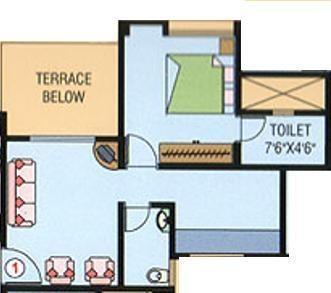 Purple Panchavati (1BHK+1T (503 sq ft) Apartment 503 sq ft)