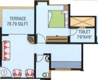 Purple Panchavati (1BHK+1T (582 sq ft) Apartment 582 sq ft)