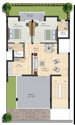 Habitat Dream Terraces Floor (2BHK+2T (1,180 sq ft) Apartment 1180 sq ft)