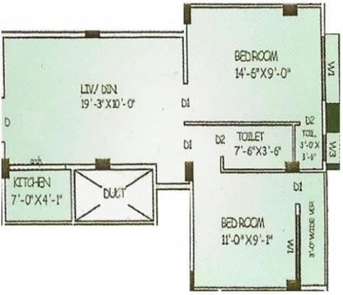 Basu And Hazra Rupasi Abasan (2BHK+2T (729 sq ft) Apartment 729 sq ft)