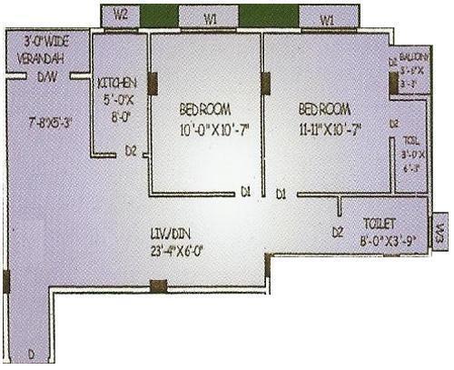 Basu And Hazra Rupasi Abasan (2BHK+2T (850 sq ft) Apartment 850 sq ft)