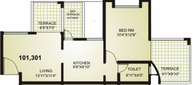 Suratwala Sweet 16 (1BHK+1T (678 sq ft) Apartment 678 sq ft)