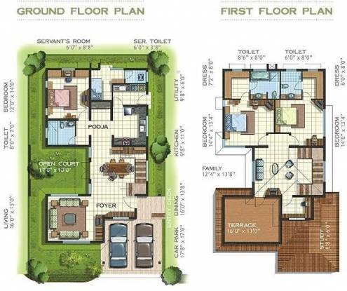Preeti Mulberry Meadows (3BHK+3T (2,664 sq ft)   Study Room Villa 2664 sq ft)
