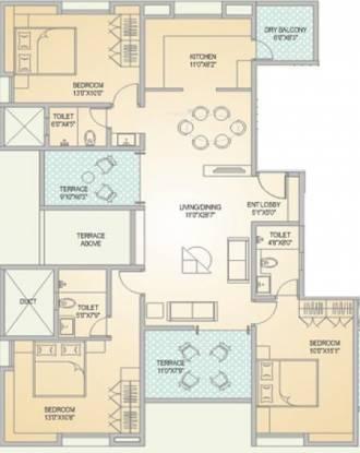 Alliance Chitralekha (3BHK+3T (1,963 sq ft) Apartment 1963 sq ft)
