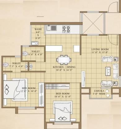 Shreem Galaxy (2BHK+2T (1,066 sq ft) Apartment 1066 sq ft)